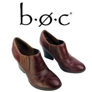 b.o.c. Born Brown Shootie Booties Distressed Sz 7